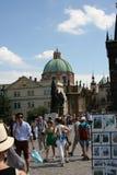 Charles Bridge _crowds_II Royalty Free Stock Image
