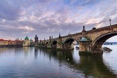 The Charles Bridge (Czech: Karluv Most) is a famous historic bridge in Prague, Czech Republic Stock Photography