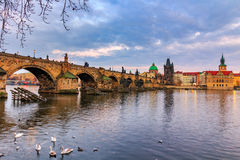 The Charles Bridge (Czech: Karluv Most) is a famous historic bridge in Prague, Czech Republic Royalty Free Stock Image