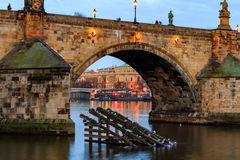 The Charles Bridge (Czech: Karluv Most) is a famous historic bridge in Prague, Czech Republic. The Charles Bridge (Czech: Karluv Most) is a famous historic Royalty Free Stock Images