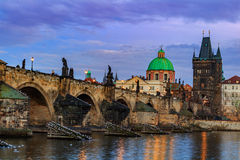 The Charles Bridge (Czech: Karluv Most) is a famous historic bridge in Prague, Czech Republic Royalty Free Stock Images