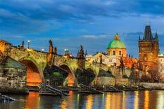 The Charles Bridge (Czech: Karluv Most) is a famous historic bridge in Prague, Czech Republic. The Charles Bridge (Czech: Karluv Most) is a famous historic Stock Photos