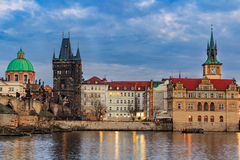 The Charles Bridge (Czech: Karluv Most) is a famous historic bridge in Prague, Czech Republic. The Charles Bridge (Czech: Karluv Most) is a famous historic Royalty Free Stock Photography