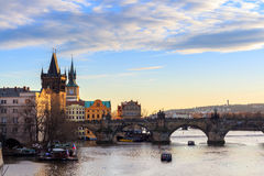 The Charles Bridge Czech: Karluv Most is a famous historic bridge in Prague, Czech Republic Stock Photography