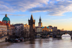 The Charles Bridge Czech: Karluv Most is a famous historic bridge in Prague, Czech Republic Royalty Free Stock Photos