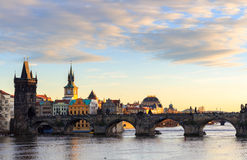 The Charles Bridge Czech: Karluv Most is a famous historic bridge in Prague, Czech Republic Stock Images