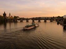 Charles Bridge Prague Czech Republic stock photo