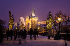Charles Bridge in Czech Republic Royalty Free Stock Images