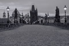 Charles Bridge Czech-Republik stockbilder