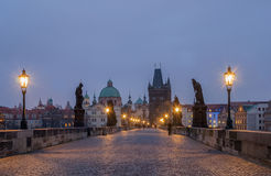 Charles Bridge at Dawn Royalty Free Stock Photos