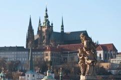 Charles\' Bridge detail, Prague Royalty Free Stock Photography