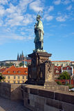 Statue - Charles Bridge - Prague Royalty Free Stock Photo