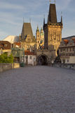 Charles Bridge in the early morning Stock Images