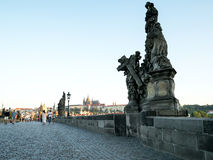 Charles bridge early in the morning Stock Images