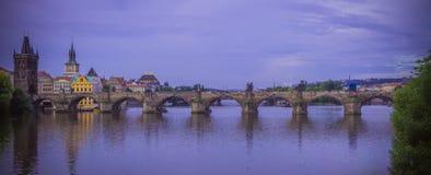 Charles Bridge em Praga Foto de Stock