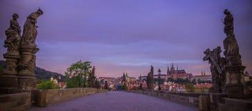 Charles Bridge em Praga Imagens de Stock