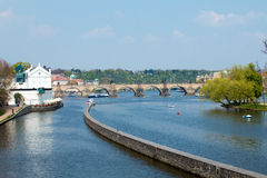 Charles Bridge en Praga Imagen de archivo