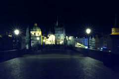 Charles Bridge Ghosts Photo stock