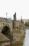 Charles Bridge gotico Fotografie Stock Libere da Diritti