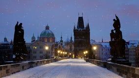 Charles Bridge i Prague stock video