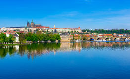 Charles Bridge (Karluv Most), Prague Castle and Vltava river. Czech Republic Royalty Free Stock Photography