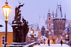 Charles bridge, Lesser town, Prague (UNESCO), Czech republic Stock Images