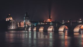 Charles Bridge Stunning View stock images