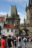 Charles Bridge_Little Quarter side tower_V Royalty Free Stock Photography