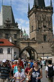 Charles Bridge_Little Quarter side tower_I Royalty Free Stock Photography