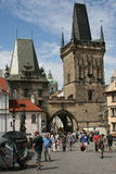 Charles Bridge-_Little Viertel-Seitenturm stockbild