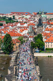 Charles Bridge and Mala Strana district, Prague Royalty Free Stock Images