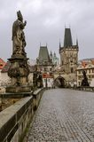 Charles bridge and Mala Strana Royalty Free Stock Photo