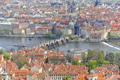 Charles Bridge and Mala Strana, Prague, Czechoslovakia Stock Photos