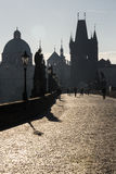 Charles bridge in the morning Stock Photography