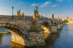 Charles Bridge at morning, Czech Republic Royalty Free Stock Photography