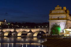 Charles Bridge, Muzeum Bedricha Smetany and Prague Castle Royalty Free Stock Photography