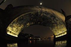 Charles Bridge at night Royalty Free Stock Photography