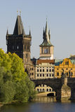 Charles Bridge and Old Town Bridge Tower Stock Photo