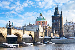 Charles bridge, Old Town, Prague (UNESCO), Czech republic Stock Photo