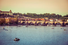 Charles Bridge and other sights in Prague Stock Photography