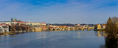 Charles Bridge Panorama Royalty Free Stock Image