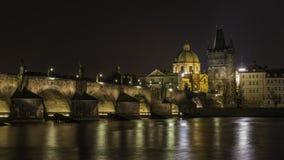 Charles Bridge Praag stock afbeeldingen