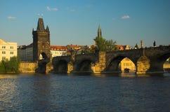 Charles Bridge, Praag stock afbeelding