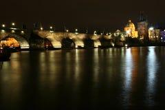 Charles Bridge - Praag royalty-vrije stock afbeelding