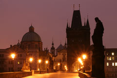 Charles Bridge (Praag) royalty-vrije stock afbeelding