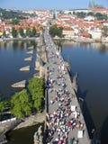 Charles Bridge in Praag. Stock Afbeeldingen
