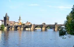 Charles Bridge, Praag Stock Foto