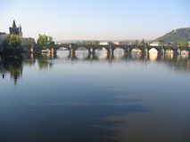 Charles Bridge. Praag. Royalty-vrije Stock Afbeelding