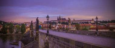 Charles Bridge in Praag Royalty-vrije Stock Fotografie