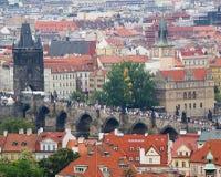 Charles Bridge in Praag, Tsjechische Republiek Stock Foto's